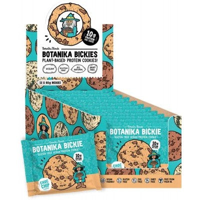 Botanika Blends Botanika Bickie Vegan Protein Cookie 3 X 60g (1 Of Each Flavour)  Or A Box Of 12 X 60g (4 Of Each Flavour)