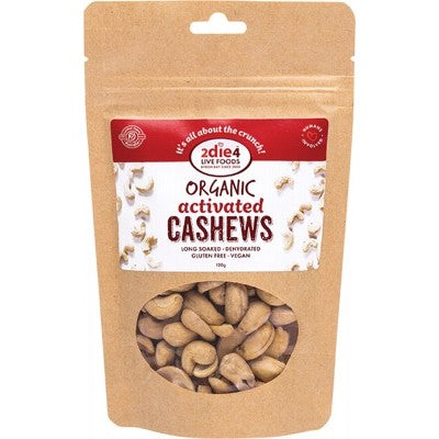 2Die4 Activated Organic Cashews Various Sizes