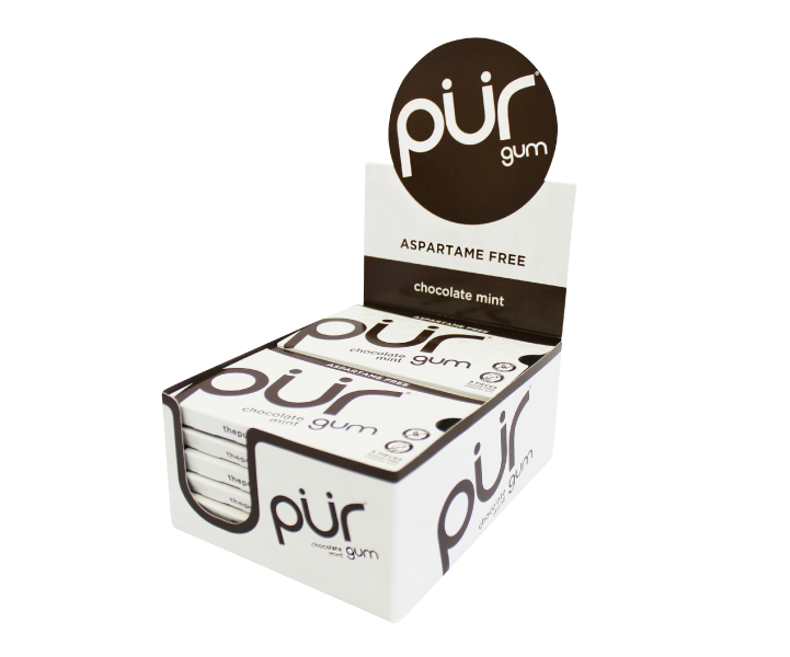 Pur Chocolate Mint Gum 12x12.6g