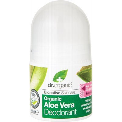 Dr Organic Roll-on Deodorant Organic Aloe Vera 50ml