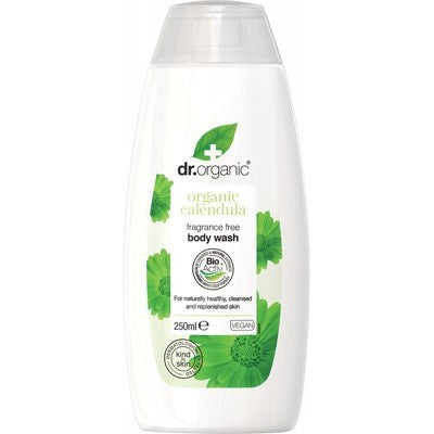 Dr Organic Fragrance Free Body Wash 250ml, Organic Calendula