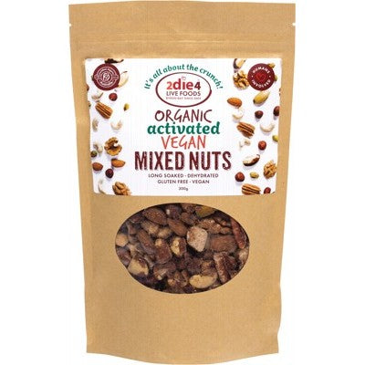 2Die4 Live Foods Mixed Nuts, Activated & Organic 120g, 300g Or 600g