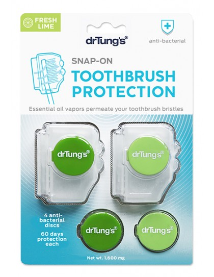 Dr Tung's Toothbrush Snap-On Toothbrush Protector & Sanitizer 2 Pack