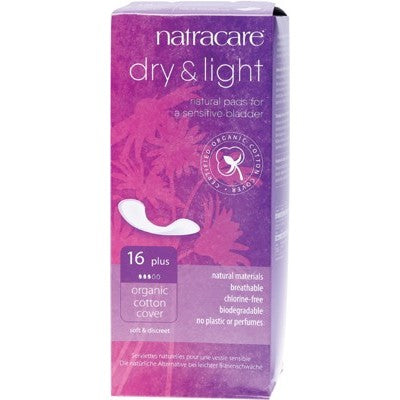Natracare Incontinence Pads Dry & Light Plus 16 Pack