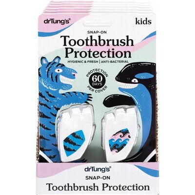 Dr Tung's Toothbrush Snap-On Toothbrush Protection Kids 2 Pack