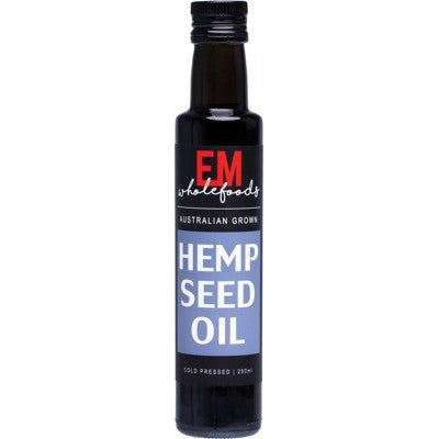 EM Wholefoods Hemp Oil Australian Grown 250ml Cold Pressed