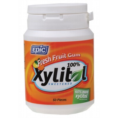 Epic Xylitol Fresh Fruit Chewing Gum 50 Pack