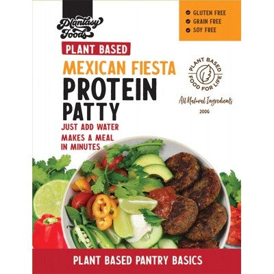 Plantasy Foods Protein Patty Mix, 200g, Mexican Fiesta Flavour