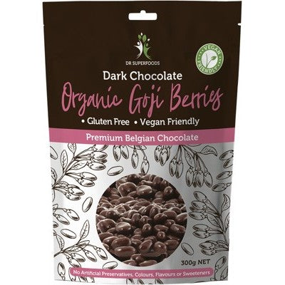 Dr Superfoods Dark Chocolate Coated Goji Berries 125g Or 300g