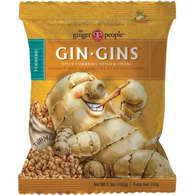 The Ginger People Gin Gins Chewy Ginger Candy 150g Spicy Turmeric