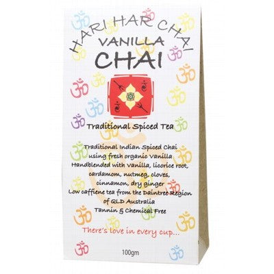 Hari Har Chai Vanilla Chai Traditional Spiced Tea Loose Leaf 100g