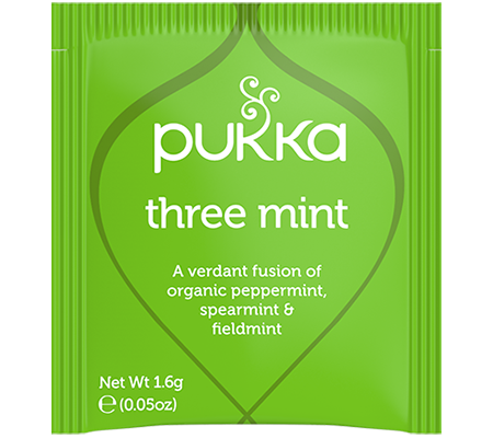 Pukka Three Mint 20 Herbal Tea Bags Organic Fair Trade