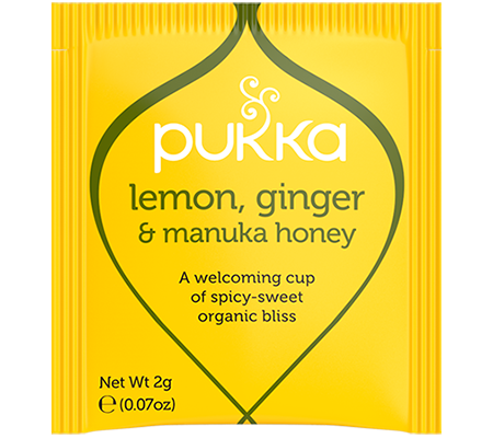 Pukka Lemon, Ginger & Manuka Honey 20 Herbal Tea Bags Organic Fair Trade