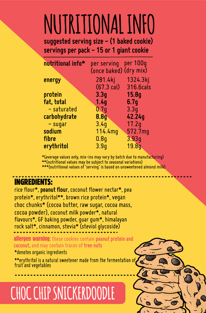 Macro Mike Macro Friendly Cookie Mix 300g, Choc Chip Snickerdoodle Flavour