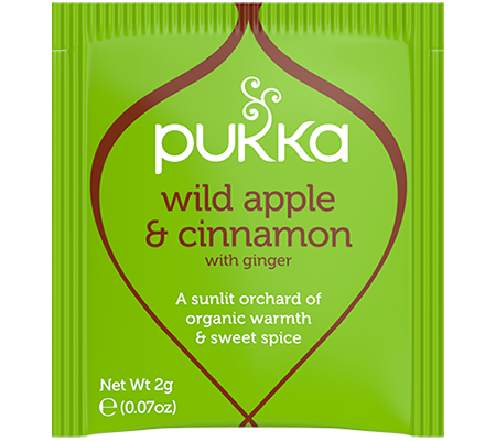 Pukka Wild Apple & Cinnamon 20 Herbal Tea Bags Organic Fair Trade