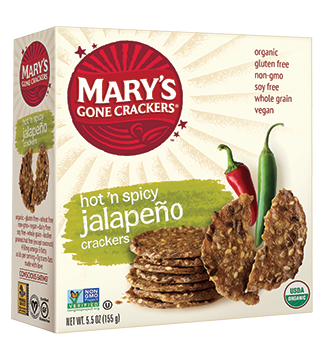 Mary's Gone Crackers Organic Hot 'n' Spicy Jalapeno Crackers 184g