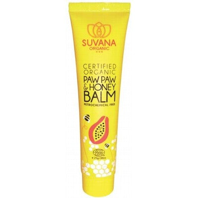 Suvana Organic Paw Paw & Honey Lip Balm 25g