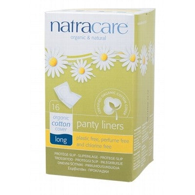 Natracare Organic Long Panty Liners 16 Pack