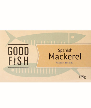 Good Fish Spanish Mackerel in Brine 125g