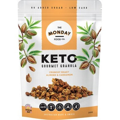 The Monday Food Co. Keto Granola 300g Or 800g Crunchy Roast Almond & Cardamom Flavour