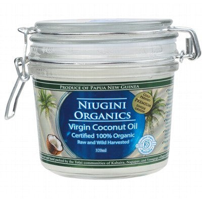 Niugini Organics Virgin Coconut Oil 100% Pure 320ml, 650ml Or 1000ml