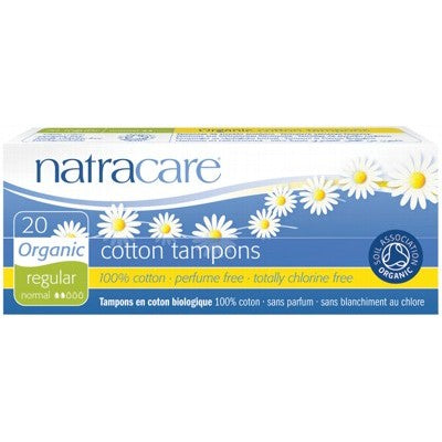 Natracare Organic Cotton Tampons Regular Non-Applicator 20 Pack