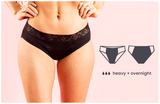 Pelvi Leakproof Underwear Bikini Black, Sizes XSmall, Small, Medium, Large, XLarge & XXLarge