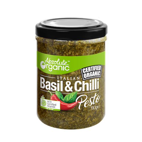 Absolute Organic Basil Chilli Pesto 190g