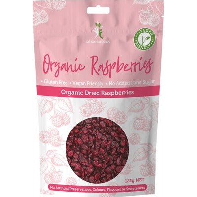 Dr Superfoods Dried Raspberries Organic 125g