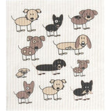 Retro Kitchen 100% Biodegradable Dishcloth Dogs