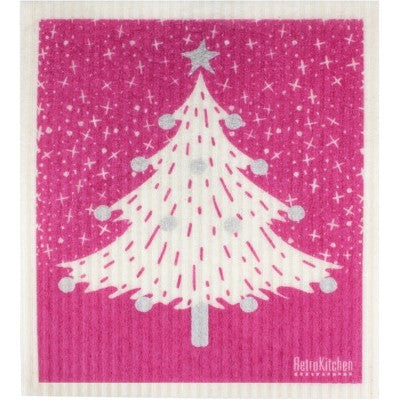 Retro Kitchen 100% Biodegradable Dishcloth Christmas Tree
