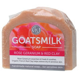 Harmony Soapworks Rose Geranium & Organic Red Clay Goats Milk Soap 140g
