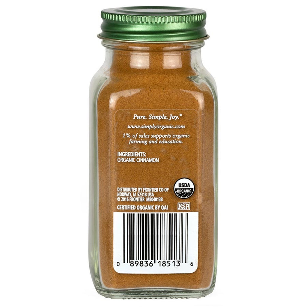 Simply Organic Cinnamon 69g Vietnamese (Glass Jar)