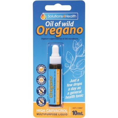 Solutions 4 Health Oil Of Wild Oregano, 10ml, 25ml Or 50ml