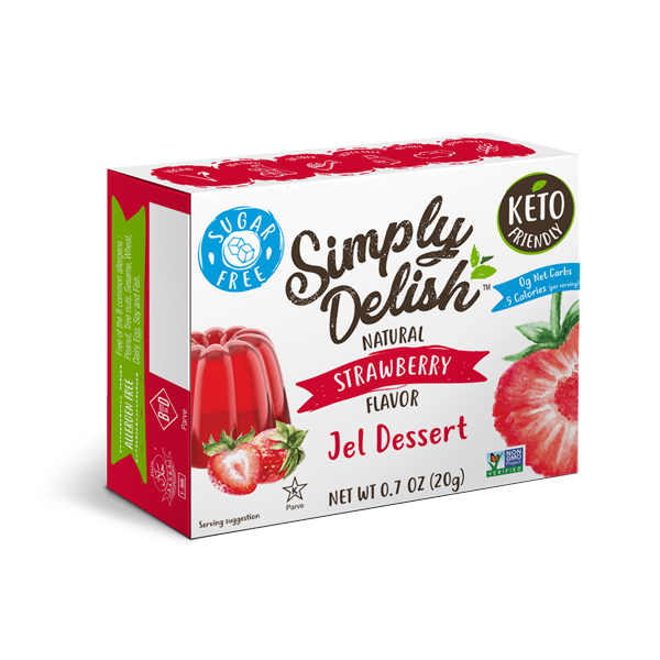 Simply Delish Jel Dessert- Sugar Free 20g, Natural Strawberry Flavour