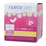 Natracare Organic Super Extra Pads Wings 10 Pack