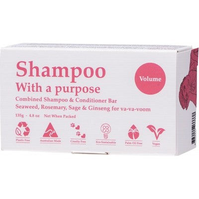Shampoo With A Purpose Shampoo & Conditioner Bar Volume 135g