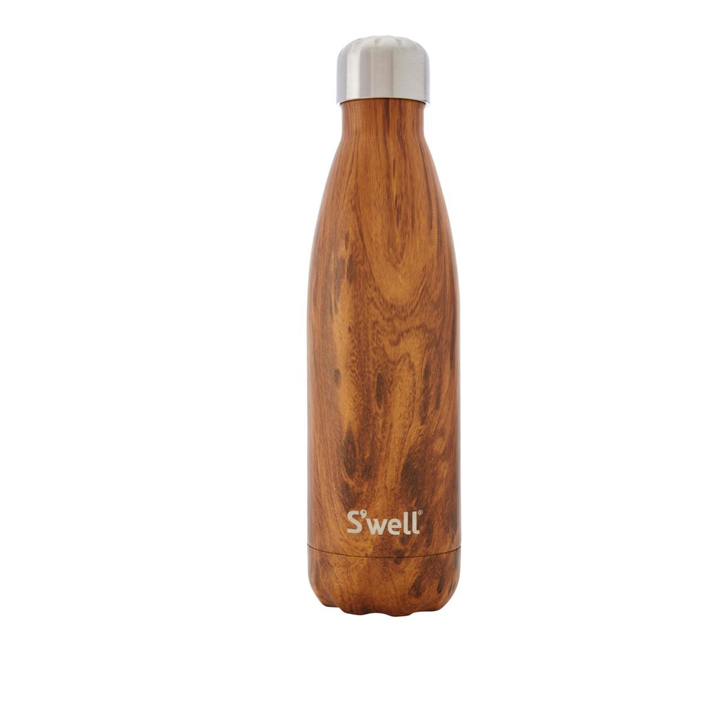 Swell Wood Collection Teakwood Insulated Stainless Steel Bottle 500ml