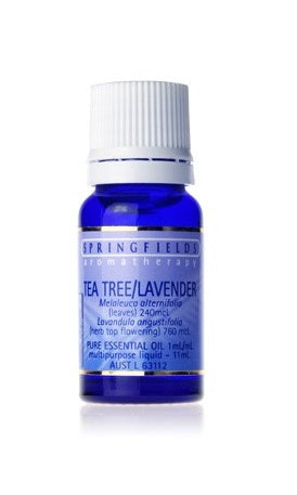 Springfields Organic Tea Tree / Lavender Aromatherapy Oil 11ml