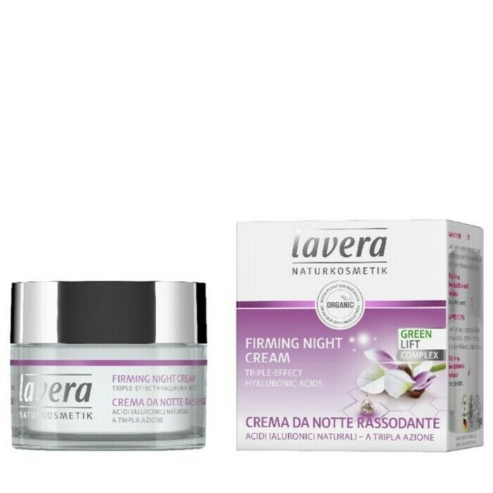 Lavera Firming Night Cream 50ml, Triple Effect Hyaluronic Acids