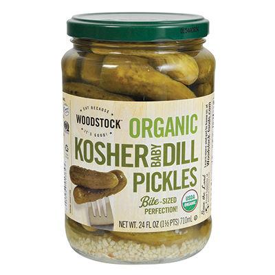 Woodstock Organic Dill Pickles Baby 710ml