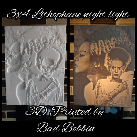 3D Printed Lithophane Night Lights (Physical Item)