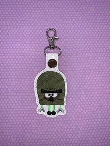 ITH Digital Embroidery Pattern for SB Olive Hap Snap Tab / Key Chain, 4X4 Hoop