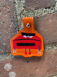 ITH Digital Embroidery Pattern for SB Red Boop Snap Tab / Key Chain, 4X4 Hoop