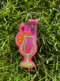 ITH Digital Embroidery Pattern for Mai Tai Drink Snal Tab / Key Chain, 4X4 Hoop
