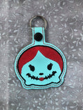 ITH Digital Embroidery Pattern for T-sum Sally SnapTab / Key Chain, 4X4 Hoop