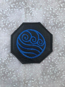 ITH Digital Embrooidery Pattern for Avatar TLA Water Coaster, 4X4 Hoop