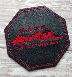 ITH Digital Embroidery Pattern for Avatar TLA Logo Coaster, 4X4 Hoop