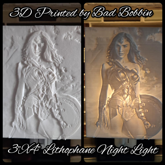 Lithophane Night Light Wonder Woman