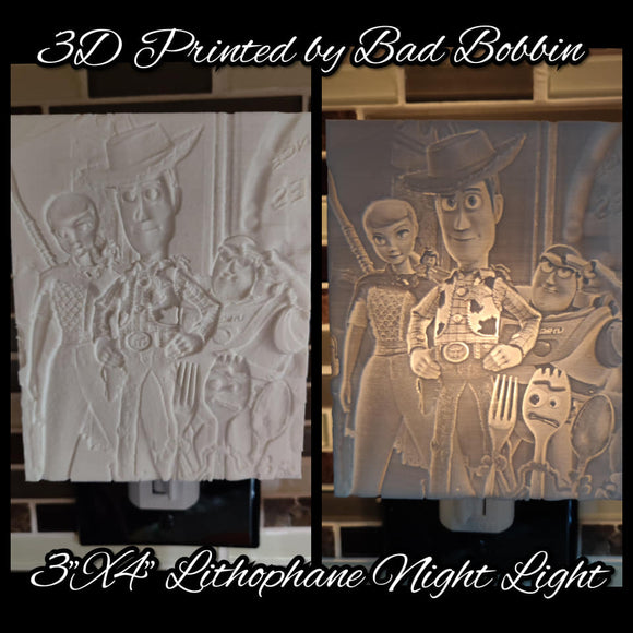 Lithophane Night Light Toy Story Group